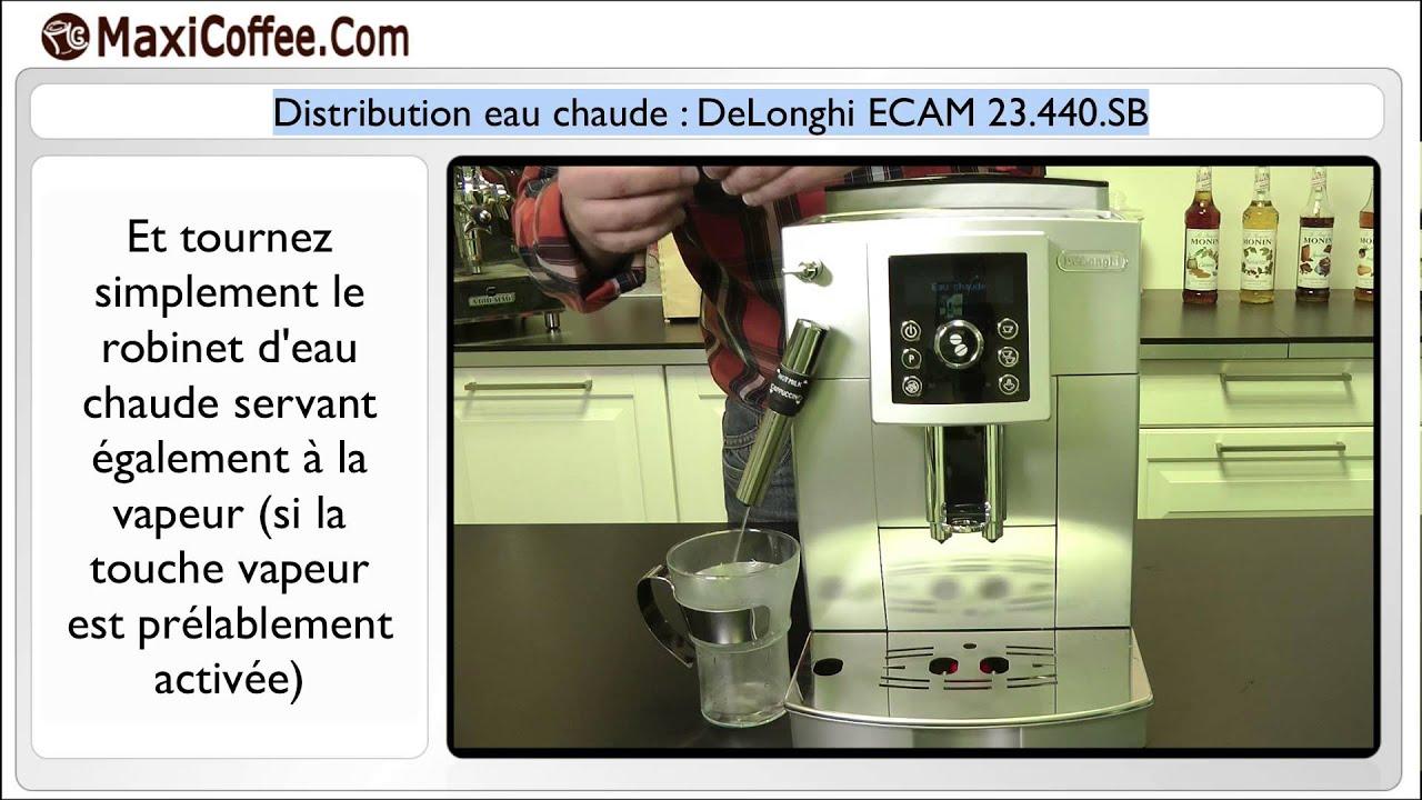 Expresso Broyeur Delonghi Ecam 23.440 Sb distribution eau chaude : delonghi ecam 23.440.sb