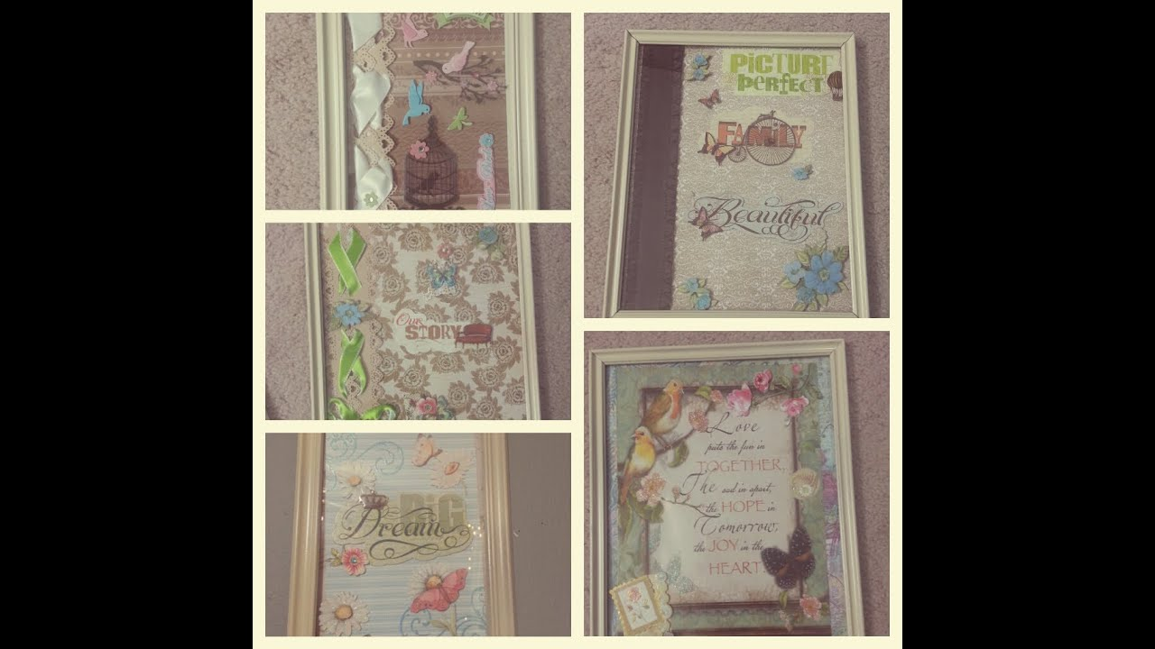 Diy picture frames greeting cards idea vintage shabby for Shabby chic frames diy