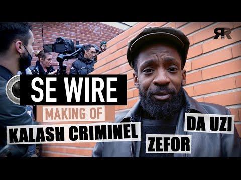 Youtube: DA UZI X KALASH CRIMINEL X ZEFOR – Dans les coulisses du tournage du clip Se Wire à Sevran