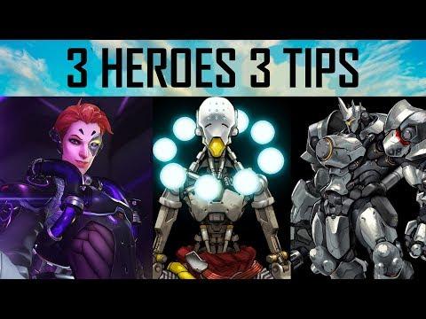 3 TIPS FOR 3 HEROES | OVERWATCH VOD REVIEW EXTRAVAGANZA (Moira, Reinhardt, Zenyatta)