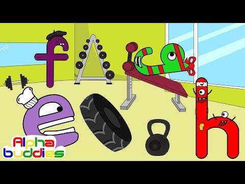 Abc Phonics For Kids | Letter E-F-G-H | The Alphabuddies Ep.8