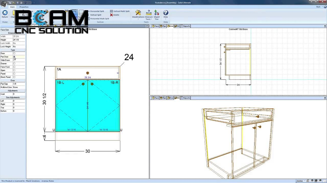 Modifying Objects and Saving Them in Cabinet Vision
