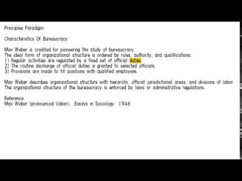 3 characteristics of bureaucracy