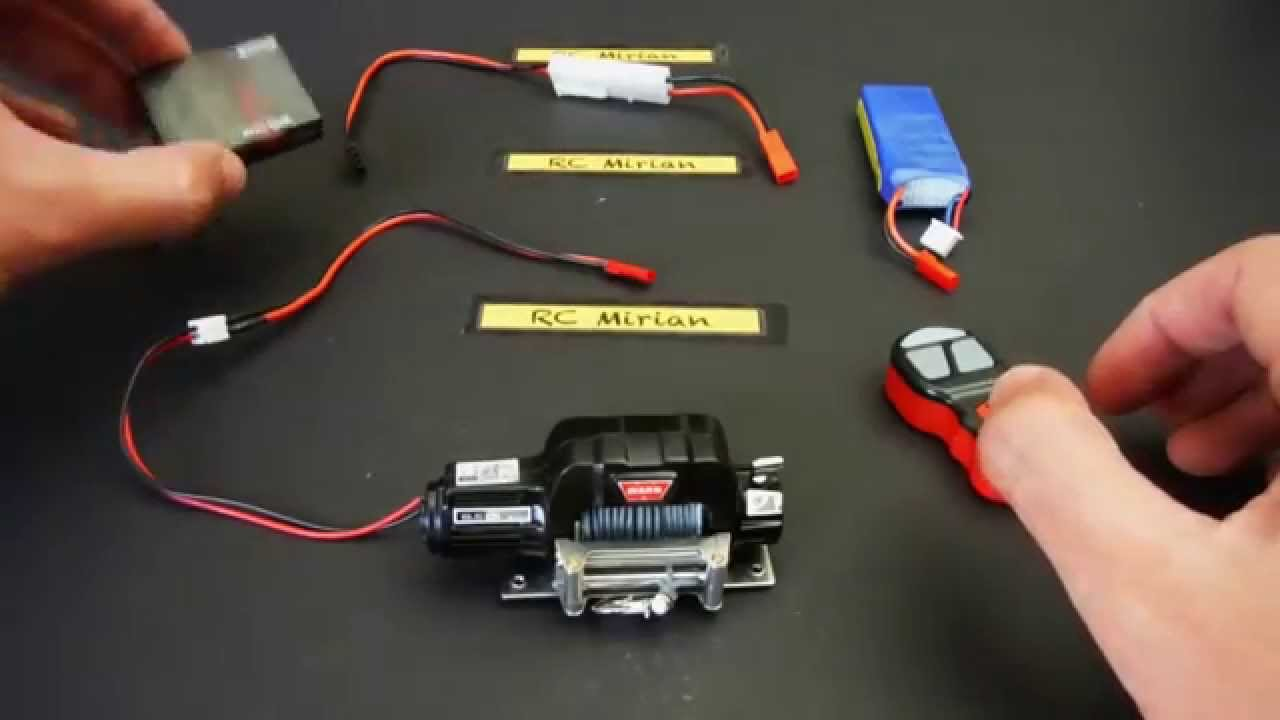 RC Warn Winch Tutorial  YouTube