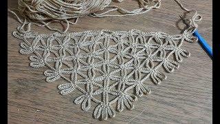 Çok Kolay Zincir Şal Yapılışı, Tığişi Örgü Sadece Zincir Çekerek Şal Yapmaya ne Dersiniz.& Crochet