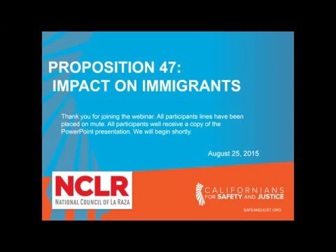 California's Prop 47 and its Impact on Immigrants