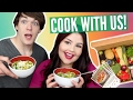 TRYING HELLO FRESH WITH JAMES! | Veggie Meal Plan