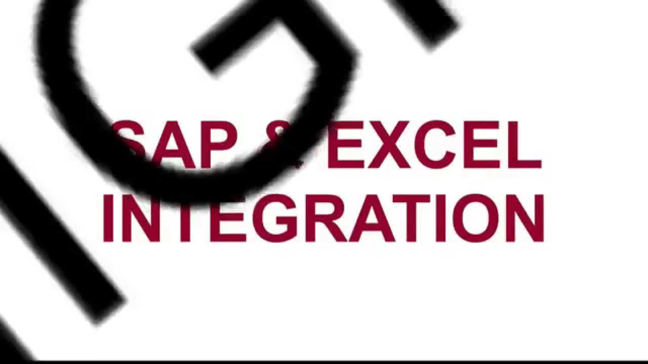 EasyInput - SAP & Excel integration - Product Overview