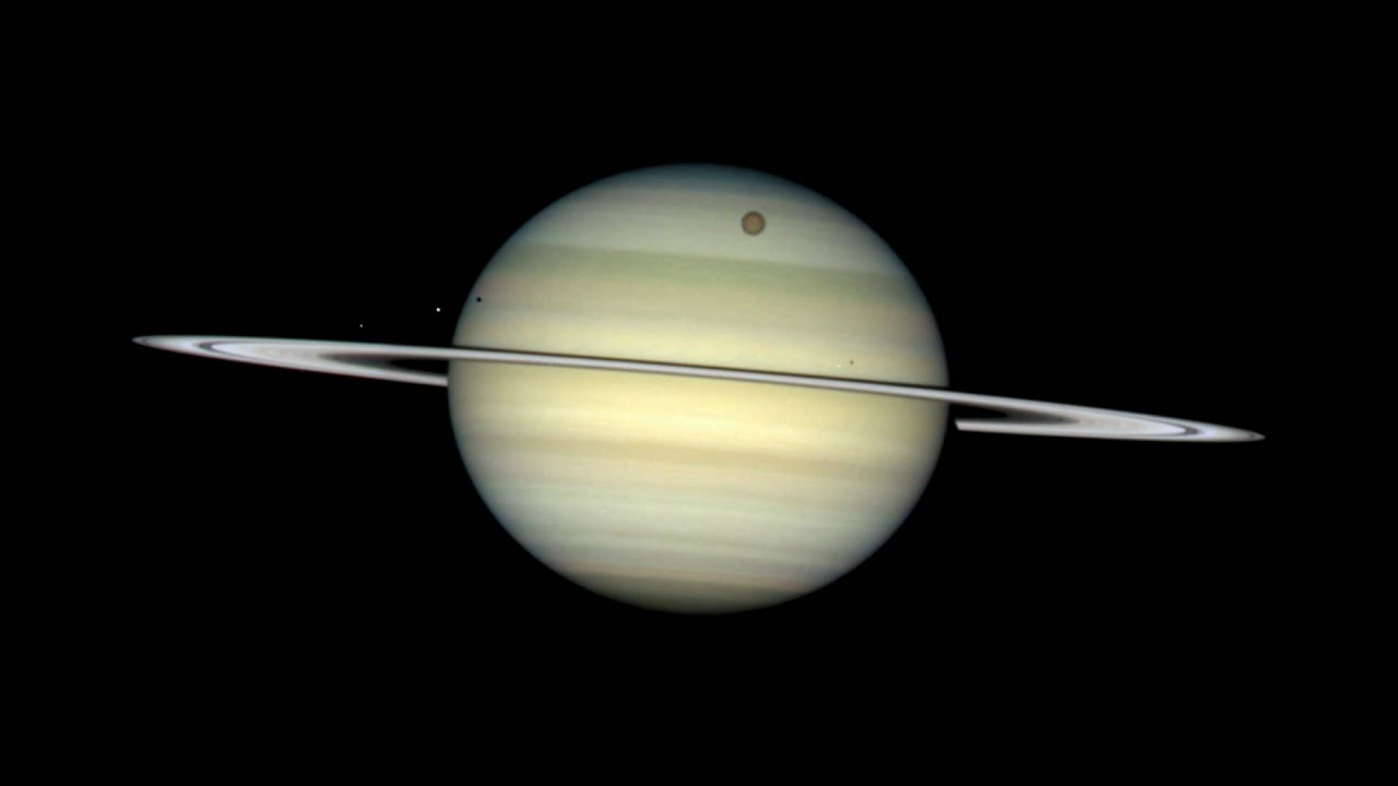 Hubble: Four Moons Transit Saturn [1080p] - YouTube