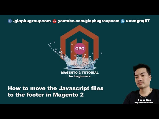 How to move the Javascript files to the footer in Magento 2