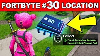 FOUND SOMEWHERE BETWEEN HAUNTED HILLS AND PLEASANT PARK - Fortnite Fortbyte #30 Location Guide