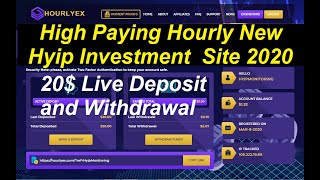 High Paying Hourly New Hyip Investment Site 2020|| 20$ Live Deposit and Instant Withdrawal Proof
