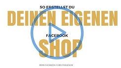 Shop auf Facebook erstellen & mit Produkt füllen