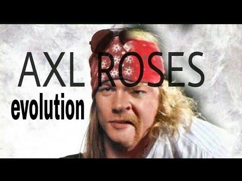 Perubahan wajah AXL ROSES dari masa ke masa 1976 – sekarang