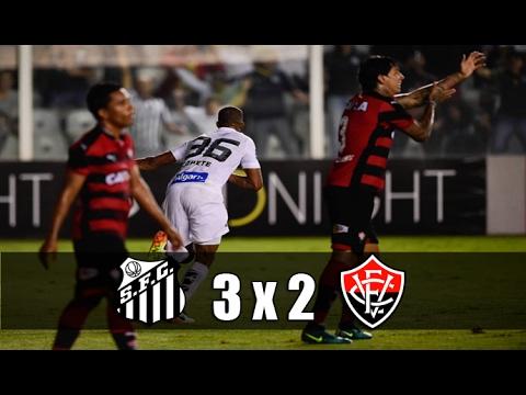 SANTOS 3X2 VITÓRIA - GOLS E MELHORES MOMENTOS - CAMPEONATO BRASILEIRO 2016 (17/11/16)