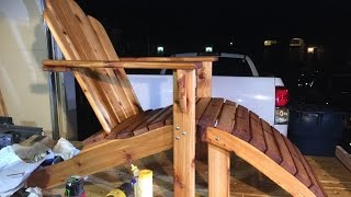 Adirondack chair with footstool.