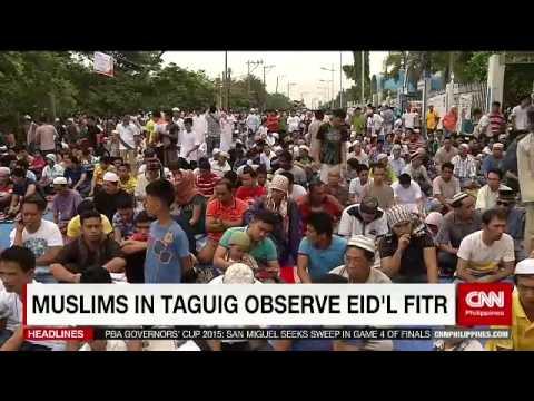 Muslims in Taguig observe Eid'l Fitr