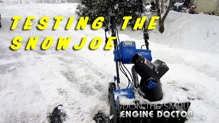 Testing The SnowJoe Battery & Electric Snowblower