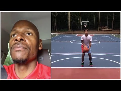 Ray Allen shares his thoughts on his sons shooting form \u0026 what he tries to teach them