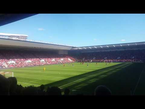 Wigan fans at Bristol City