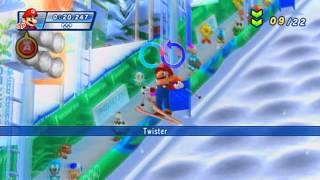 """Mario & Sonic Winter Game"" Mario Gangs Play ""Moguls"" HD"