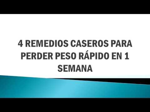 4 Remedios Caseros Para Perder Peso Rápido En 1 Semana