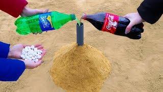 Volcano from Coca Cola, Sprite, Fanta and Mentos!