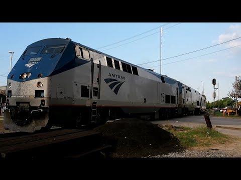 """2017/08/19 Amtrak """"Sunset Limited"""" at Houston"""