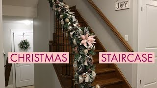 How To Creat A Christmas Garland For Staircase/DIY Christmas Garland For Banister