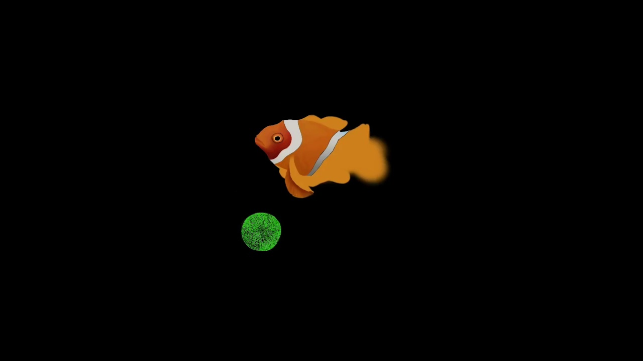 First Iphone Clownfish Wallpaper Drawing With Apple Pencil