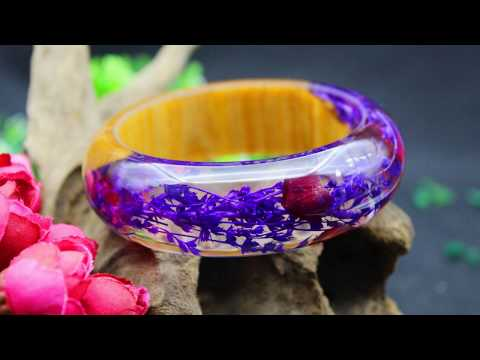 How to make the faceted resin ring& purple flower bracelet|epoxy resin jewelry|Smartyleowl