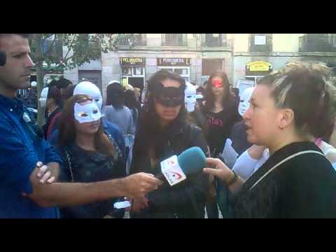 Concentració Prostitutes Indignades 25 Octubre 2013