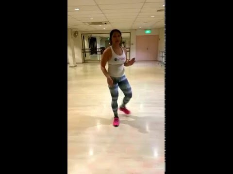 Zumba with Rozanne -- basic salsa steps