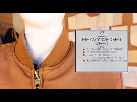 FR Clothing Heavyweight Vest Tyndale K690T - YouTube