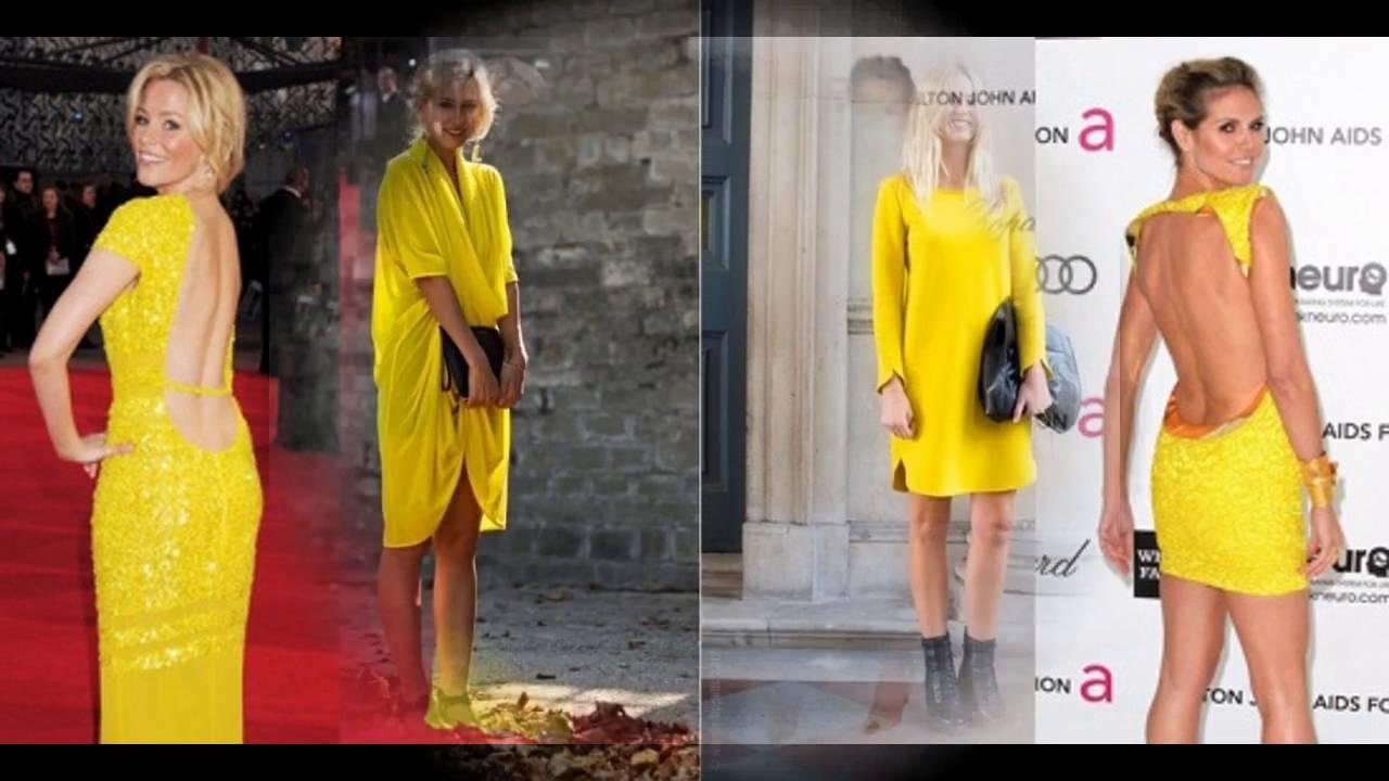 ef8fa604950 Las últimas tendencias en moda Cómo combinar vestido amarillo - YouTube