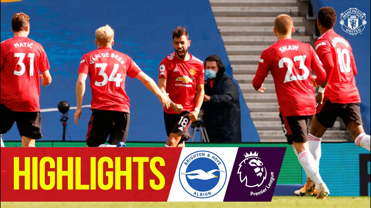Brighton 2-3 Man Utd highlights