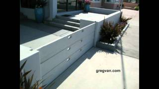 Removable Boards Creating Driveway Fence - Beach Home Ideas