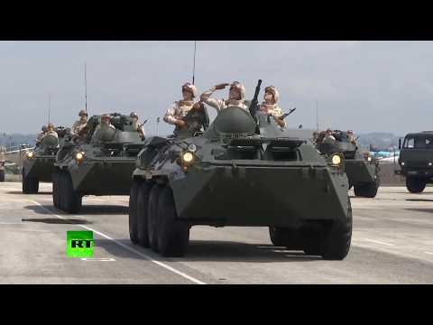 Празднование Дня Победы на базе Хмеймим в Сирии