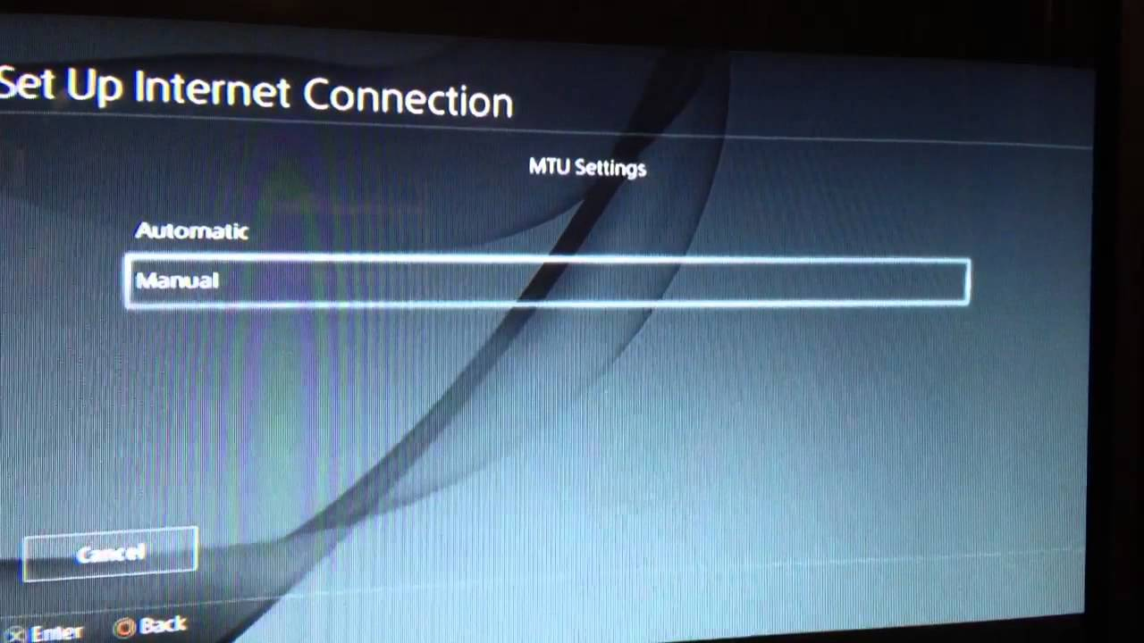how to clear network on ps4