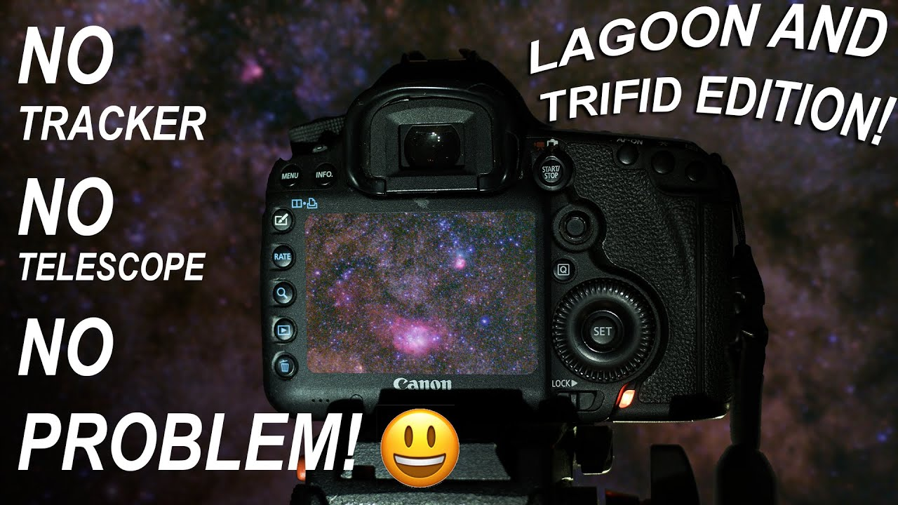 Lagoon Nebula WITHOUT a Star Tracker or Telescope, Start to Finish, DSLR Astrophotography