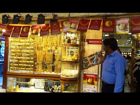 Le marché de l'or à Dubai ou Gold Souk, dans le vieux Dubai