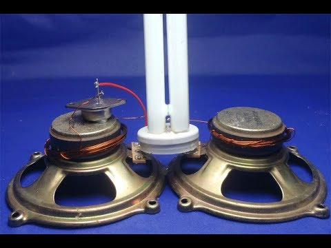 220V Light Bulbs Using with speaker magnets , Free energy generator