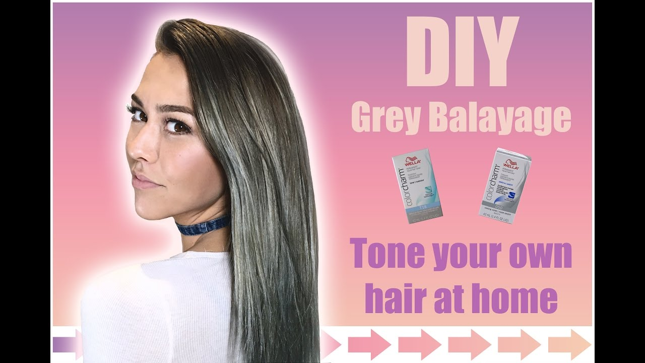 Diy grey balayage tone your hair at home youtube diy grey balayage tone your hair at home solutioingenieria Gallery