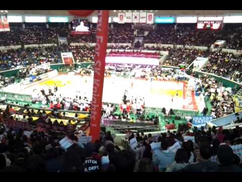 Korea Basketball League (KBL); Samsung Thunder defeat SK Knights; Dec. 17, 2011