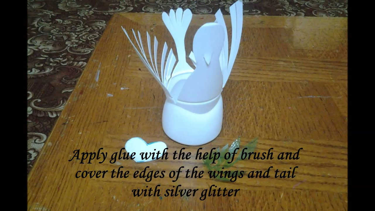 Best out of waste plastic bottle bird dove youtube for Waste to useful crafts