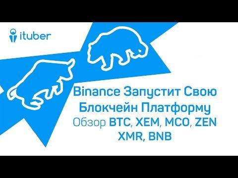 Binance Запустит Свою Блокчейн Платформу. Обзор BitCoin BTC, NEM XEM, Monaco MCO, ZEN, XMR, BNB