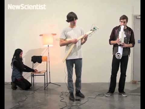 Music-making card turns objects into instruments