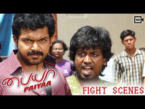 Paiyaa Tamil Moive | Fight & Car Chase Scene | Karthi, Tamannaah | N. Linguswamy
