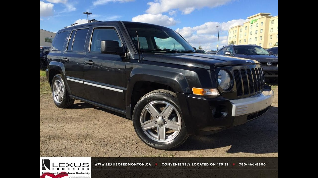 pre owned black 2008 jeep patriot 4wd limited in depth. Black Bedroom Furniture Sets. Home Design Ideas