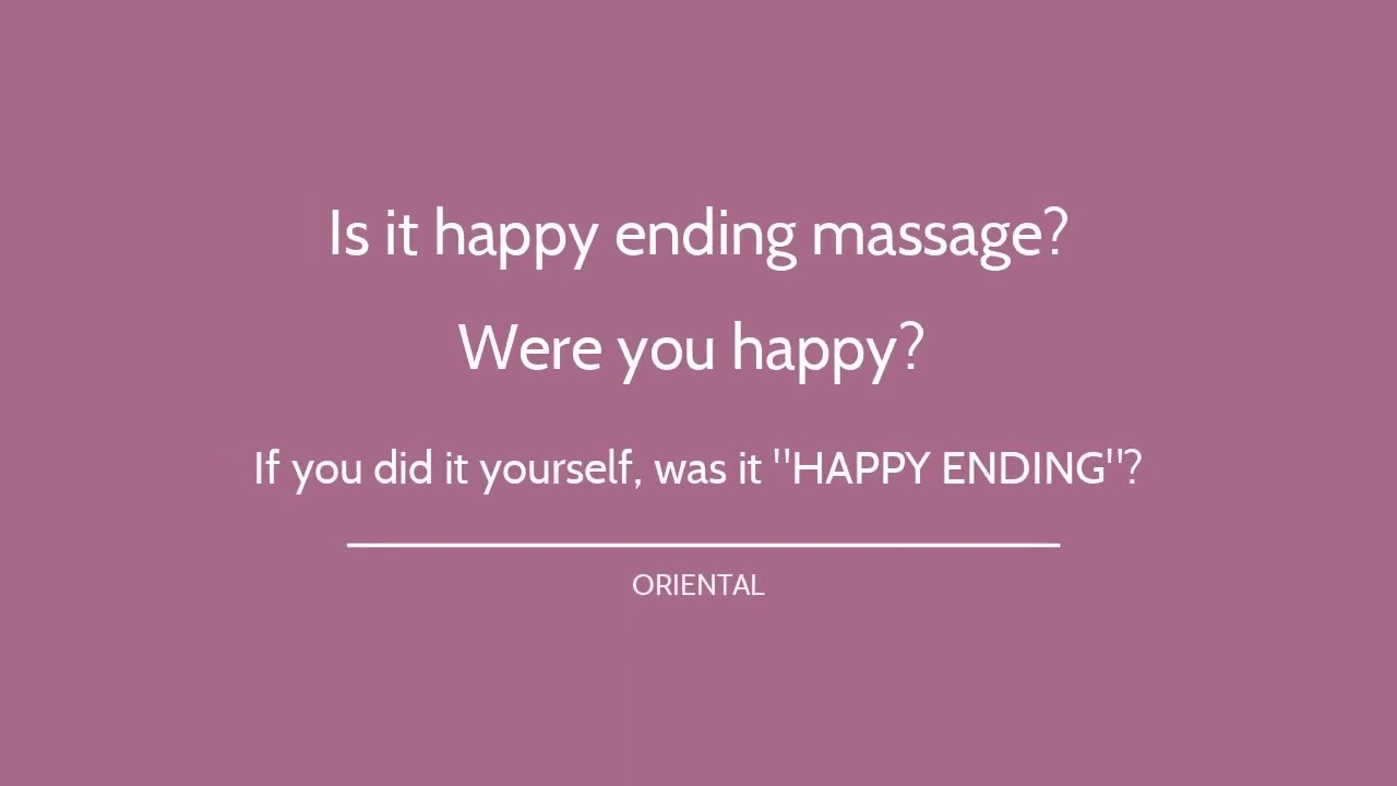 with ending video massage Real happy